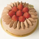 チョコレートクリームいちごデコレーション